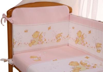Комплект в кроватку Perina Фея Ф4-01.3 (Лето розовый) - расцветка