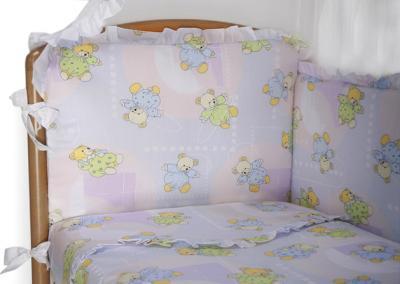 Комплект в кроватку Perina Роза Р4-03.4 (Радуга) - расцветка