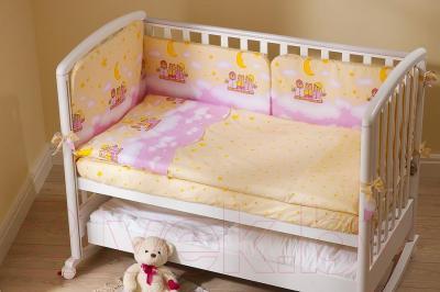 Комплект в кроватку Perina Аманда А4-02.3 (Ночка розовый)