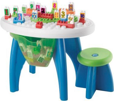 Конструктор Ecoiffier Столик с блоками, 43 дет. (01590) - общий вид