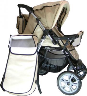 Детская универсальная коляска Anmar Rosse Golden (Beige) - общий вид
