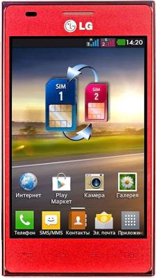 Смартфон LG E615 Red (Optimus L5 Dual) - общий вид