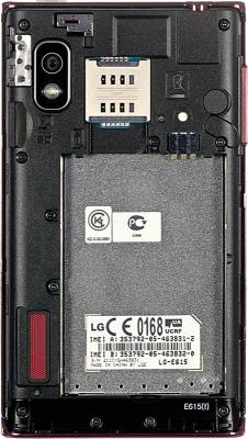 Смартфон LG E615 Red (Optimus L5 Dual) - без крышки