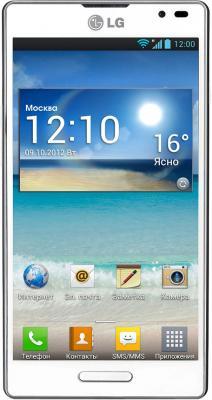 Смартфон LG Optimus L9 / P765 (белый) - вид спереди