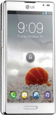 Смартфон LG Optimus L9 / P765 (белый) - общий вид
