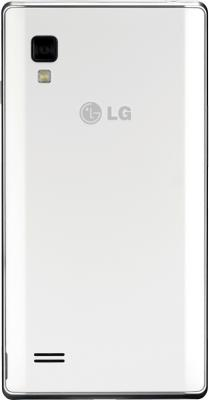 Смартфон LG Optimus L9 / P765 (белый) - задняя панель