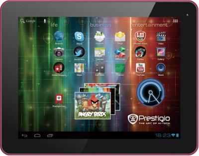 Планшет Prestigio MultiPad 9.7 Ultra (PMP5197D) 16GB Black-Red - фронтальный вид