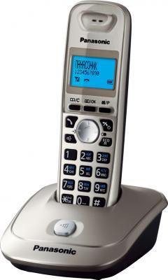 Беспроводной телефон Panasonic KX-TG2511 (платиновый) - общий вид