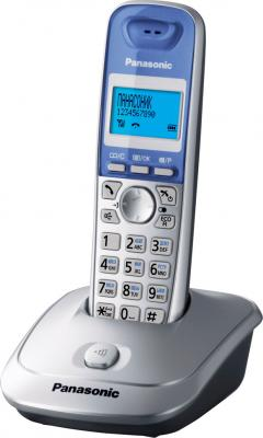 Беспроводной телефон Panasonic KX-TG2511 (серебристый) - общий вид