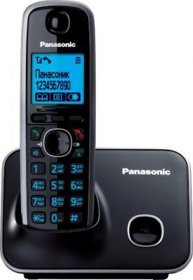 Телефон DECT Panasonic KX-TG6611 Black (KX-TG6611RUB) - общий вид