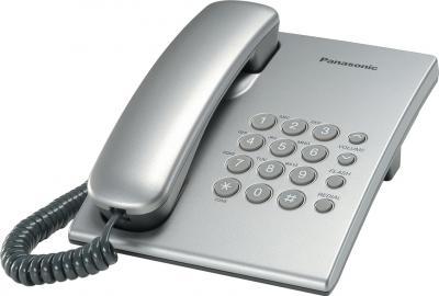 Проводной телефон Panasonic KX-TS2350  (серебристый) - общий вид