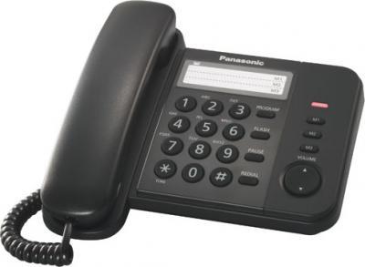 Проводной телефон Panasonic KX-TS2352  (черный) - общий вид
