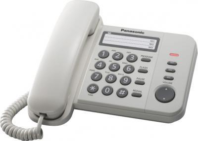 Проводной телефон Panasonic KX-TS2352  (белый) - общий вид