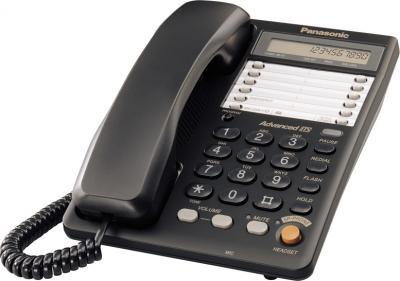 Проводной телефон Panasonic KX-TS2365 (черный) - общий вид