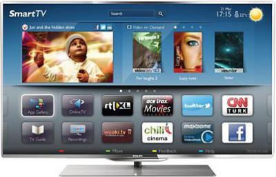 Телевизор Philips 55PFL7007T/12 - вид спереди