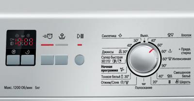 Стиральная машина Bosch WLG2416SOE - панель управления