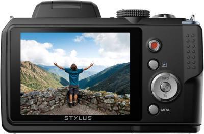 Компактный фотоаппарат Olympus SP-820UZ Black - вид сзади