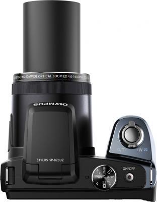 Компактный фотоаппарат Olympus SP-820UZ Black - вид сверху