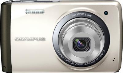 Компактный фотоаппарат Olympus VH-410 (серебристый) - вид спереди