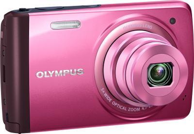 Компактный фотоаппарат Olympus VH-410 (розовый) - общий вид