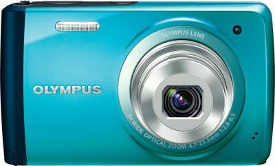 Компактный фотоаппарат Olympus VH-410 (голубой) - вид спереди