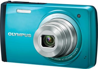 Компактный фотоаппарат Olympus VH-410 (голубой) - общий вид
