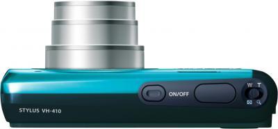 Компактный фотоаппарат Olympus VH-410 (голубой) - вид сверху