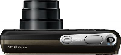 Компактный фотоаппарат Olympus VH-410 (черный) - вид сверху
