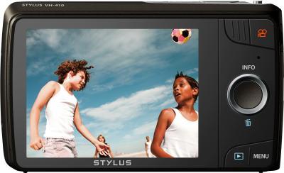 Компактный фотоаппарат Olympus VH-410 (черный) - вид сзади