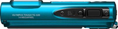Компактный фотоаппарат Olympus TG-320 Blue - вид сверху