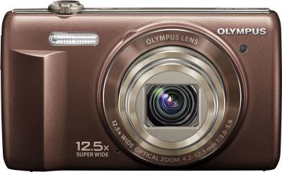 Компактный фотоаппарат Olympus VR-360 Brown - вид спереди