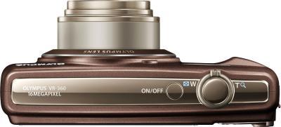 Компактный фотоаппарат Olympus VR-360 Brown - вид сверху