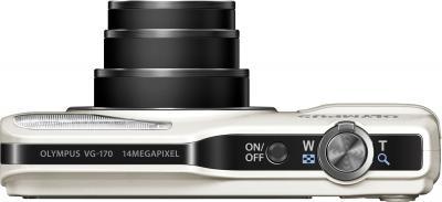Компактный фотоаппарат Olympus VG-170 White - вид сверху