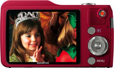 Компактный фотоаппарат Olympus VG-170 Red - вид сзади