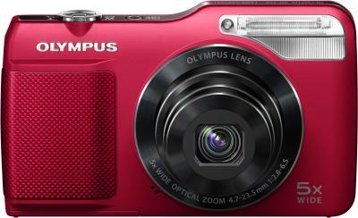 Компактный фотоаппарат Olympus VG-170 Red - вид спереди