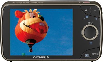 Компактный фотоаппарат Olympus VH-210 White - вид сзади