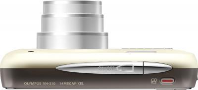 Компактный фотоаппарат Olympus VH-210 White - вид сверху