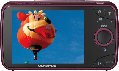 Компактный фотоаппарат Olympus VH-210 Red - вид сзади