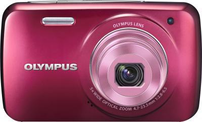 Компактный фотоаппарат Olympus VH-210 Red - вид спереди