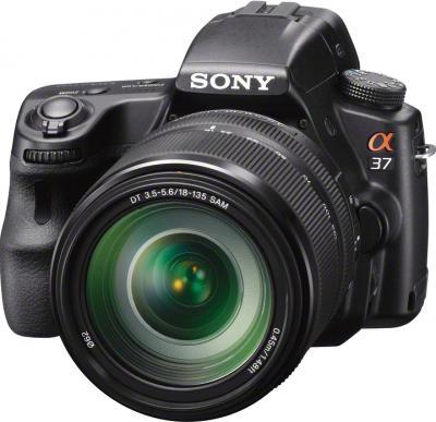 Зеркальный фотоаппарат Sony SLT-A37M (черный) - общий вид