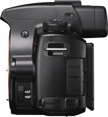 Зеркальный фотоаппарат Sony SLT-A37M (черный) - вид сбоку