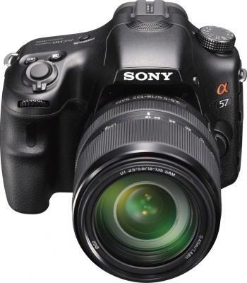 Зеркальный фотоаппарат Sony SLT-A57M Kit 18-135mm Black - общий вид
