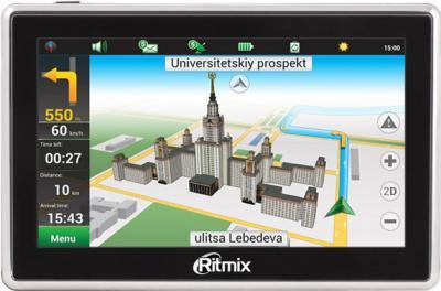 GPS навигатор Ritmix RGP-570 - вид спереди