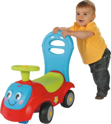 Каталка детская Smoby Машина с ручкой 431704 - ребенок с каталкой