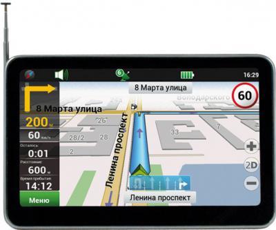 GPS навигатор Ritmix RGP-586TV - вид спереди