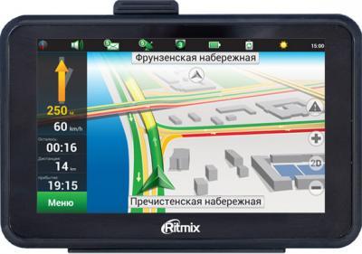 GPS навигатор Ritmix RGP-589DVR - вид спереди