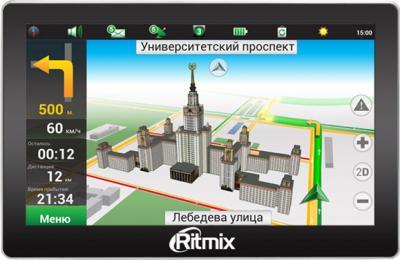 GPS навигатор Ritmix RGP-765 - вид спереди