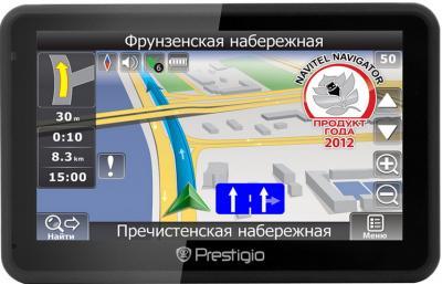 GPS навигатор Prestigio GeoVision 5166BT (PGPS5166CIS04GBBTNV) - вид спереди