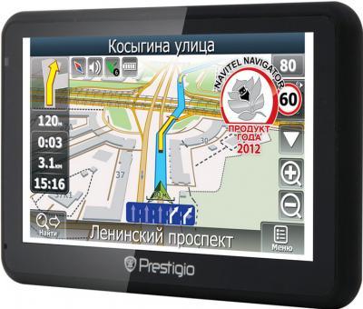 GPS навигатор Prestigio GeoVision 5166BT (PGPS5166CIS04GBBTNV) - вид сбоку