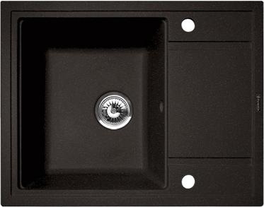 Мойка кухонная Florentina Липси-650 (Anthracite) - общий вид